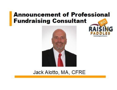 Announcement of Professional Fundraising Consultant