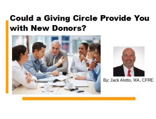 Could a Giving Circle Provide You with New Donors?