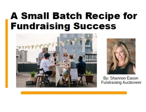 A Small Batch Recipe for Fundraising Success